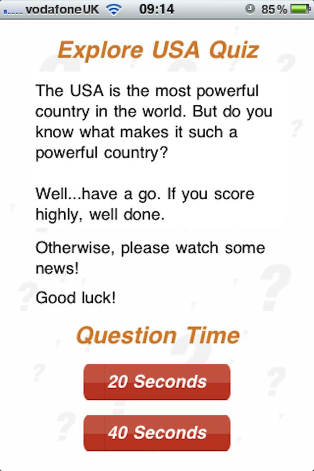 Screenshot Explore USA – 100Q Quiz